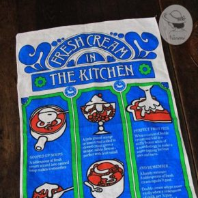 Vintage Tea Towel 'Fresh Cream in The Kitchen'
