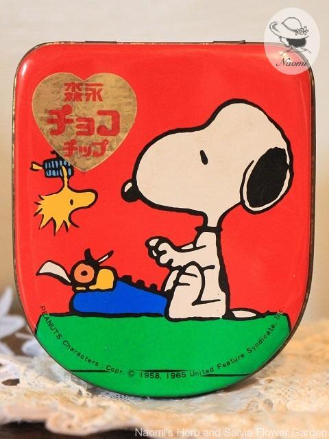 森永チョコチップ スヌーピー 缶