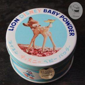 ライオン ディズニーベビーパウダーの昭和レトロな缶