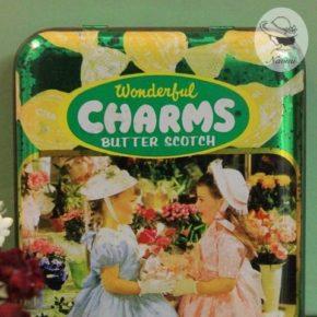 チャームス バタースコッチキャンディーの缶
