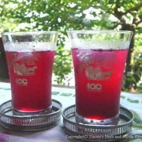 夏の朝、お勝手仕事の最後にちゃちゃと作るルビー色の赤紫蘇のゼリー