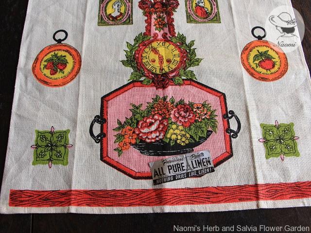 Clock Parisian Prints Tea Towel