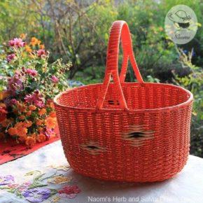 昭和レトロなかご - 橙色