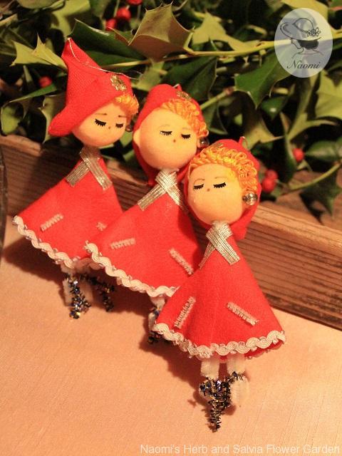 昭和のクリスマスオーナメントお人形