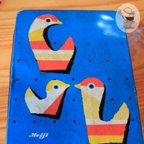 明治ナイーブビスケットの缶③ - 鳥のデザイン