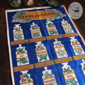 Ulster 'Herbs and Spices'  Vintage Tea Towel