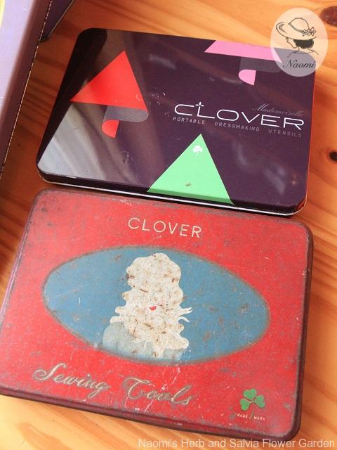 クローバーの裁縫道具缶