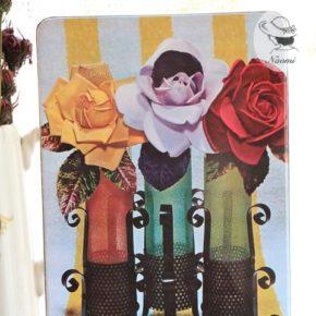 明治シックビスケットの缶① - アーティフィシャルな薔薇