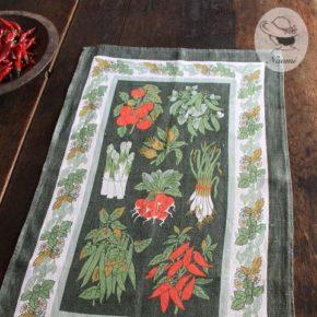 アルスター ウィーバーズのビンテージティータオル'Kitchen Garden'