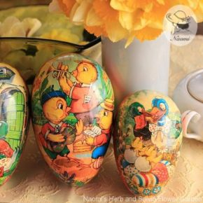 紙製イースターエッグ - Vintage Paper Mache Easter Egg