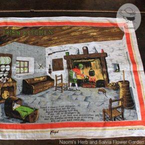 'An Old Irish Kitchen' Fingal Irish Linen Tea Towel