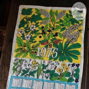 1975カレンダーティータオル