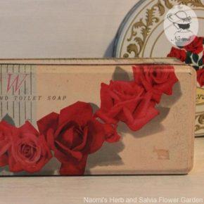 牛乳石鹸の昭和レトロな缶 - 赤い薔薇