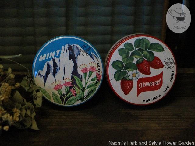 森永リップスキャンデー缶 ミント