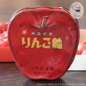 りんご飴の昭和レトロな缶