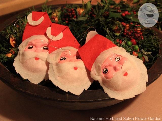 昭和レトロなクリスマスオーナメント サンタ