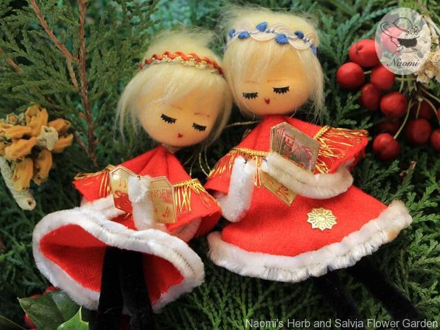 昭和レトロなクリスマスオーナメント お人形