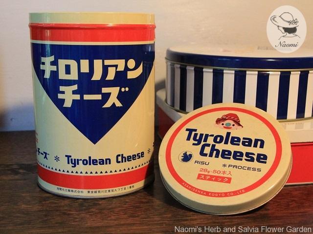 チロリアンチーズの昭和レトロな缶
