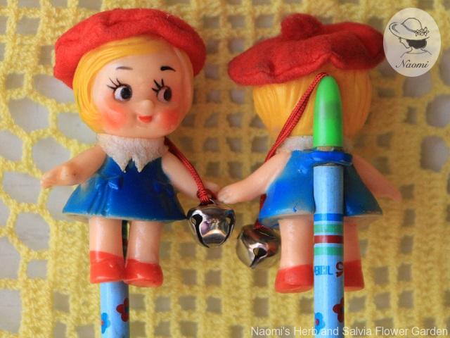 昭和レトロなお土産の鉛筆 お人形