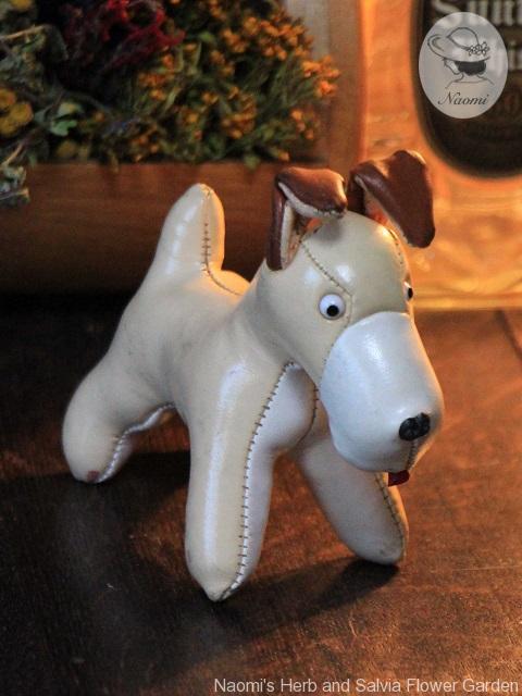 昭和レトロ 動物ぬいぐるみ犬 ビニールレザー