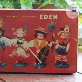 明治エデンビスケットの缶⑦ - お人形