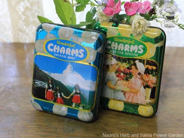 チャームス クリスタルミントキャンディーの缶
