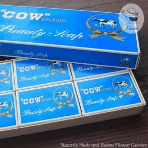 昭和レトロな石鹸の紙箱⑥ - 牛乳石鹸の青箱
